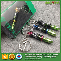 Wholesale Maven Car Parts Shock Absorber Coilover Spring JDM Dampachi Keychain Key Fob Key Chain Keyring