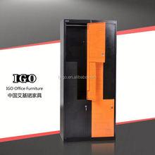 cheap metal storage cabinet 4 compartments steel wardrobe locker