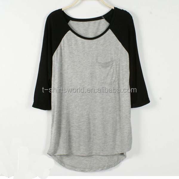 personnalis 3 4 manches blank baseball tee shirt femme de baseball chemises t shirt id de. Black Bedroom Furniture Sets. Home Design Ideas