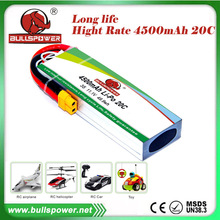 20C rechargeable 3S Lithium Polymer 11.1v 4500mah china RC lipo battery