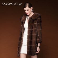 women brown natural sable mink fur coat with price