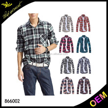 Wholesale men red black flannel shirt with fashion designs S - 4XL