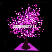24V voltage 640LEDs 1.5m height and 1.3m width outdoor LED tree lights with pink flowers