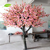 GNW BLS016 Fake Artificial Pink Flowering Cherry Blossom Tree for wedding decoration