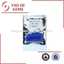 Round Cut 1.25mm Nano Gmes,Sapphire Blue Opal Precious Synthetic Wax Casing Nao Stone