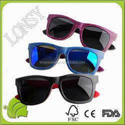 Veneer Wood Frame Eyeglass Fashion Lens Pattern Sunglasses Women China Factory
