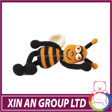 custom design plush bee toys with long leg /stuffed toy bee/yellow bee with dress and wing