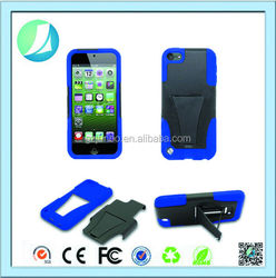 Wholesale OEM Kickstand Hybrid Case For Ipod Touch 5