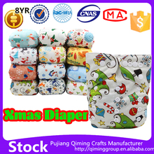 Beilesen Christmas cloth diapers baby sleepy