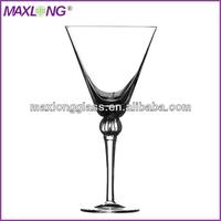 Hot Sale Handmade drinking glass with pumpkin ball stem