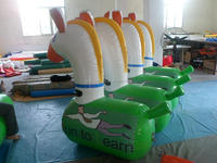 promotional custom made large inflatable KIDS water horse ,new Fun sports inflatable sports ----sit horse