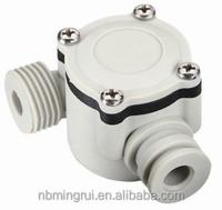 """MR-A368 DN15 G1/2"""" rate 1~30L/min Hall Flow sensor plastic water liquid flow sensor"""