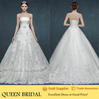New Arrival Strapless Lace German Ball Gown Wedding Dresses