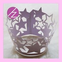 Laser Cut Star Baby Shower Favors Gift Dinosaur Cupcake Wrapper DG-75