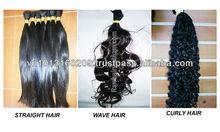 wave double weft virgin brazilian/vietnam/cambodia hair wholesale all of length 30-90cm