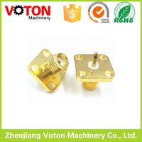 SMA Female connector Straight Panel Mount 4 Holes Flange Crimp connector