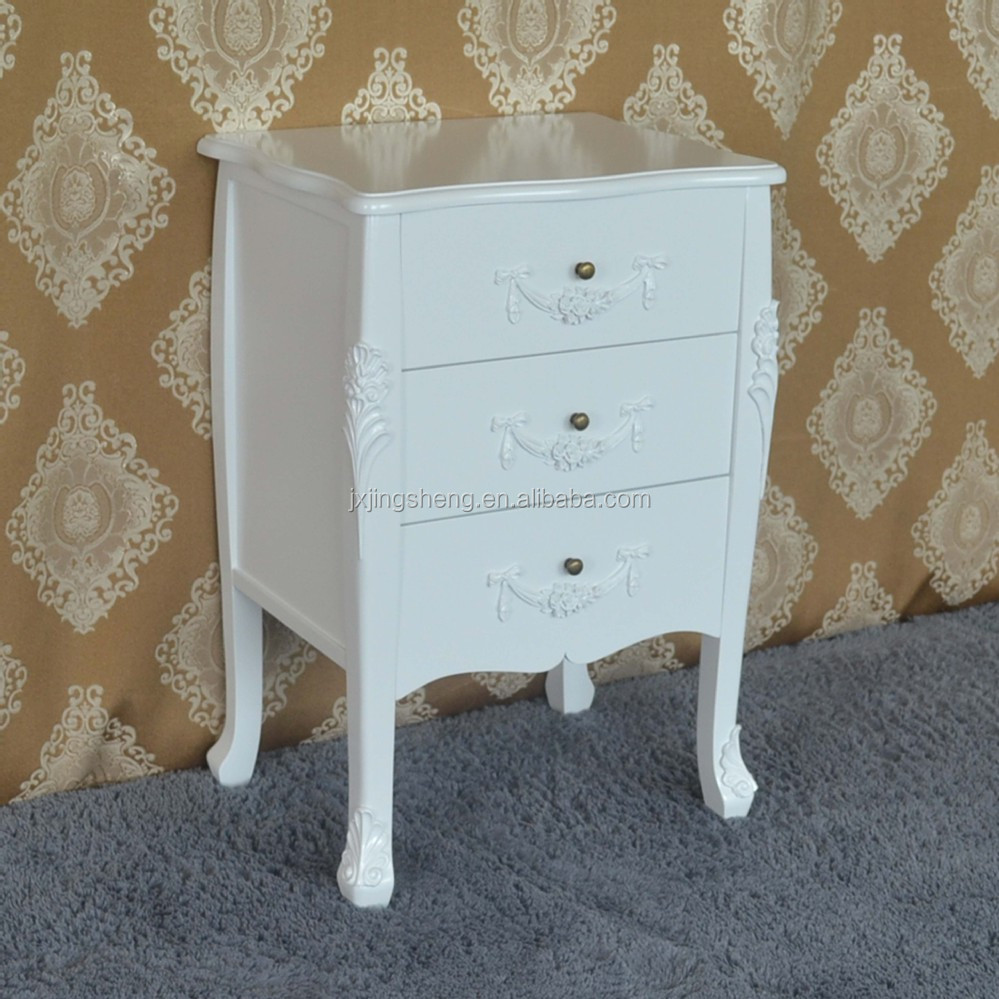Wooden bedside table white drawer chest leroy merlin - Table rabattable leroy merlin ...