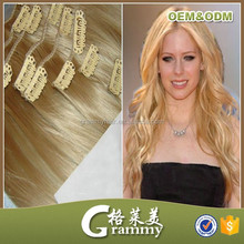 Most popular products new style top grade 100% raw natural clip in hair extensions brazilian weave