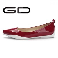 China hot new products mixed colored design comfortable flat lady shoes for working