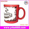 2015 black and white face thermal mugs change color by hot water cups