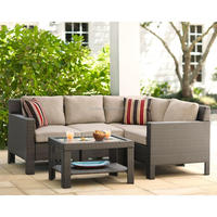 High quality 5pc outdoor sectional rattan chair wilson and fisher patio furniture
