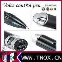 HD 1280*720 voice-activated pen dvr camera ,voice control pen camera ,pen recorder+video+audio+webcam With Retail Box