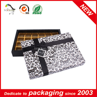 Chocolate Packaging with Ribbon Sticker Red Packaging Christmas Boxes