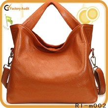 2015 New products high quality 100% genuine leather tote hobo bag American