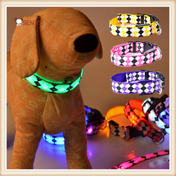 High Quality Customize Pet Dog Polyester Products LED Pet Collar For Dog