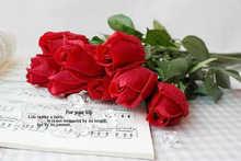20pcs/lot Real touch PU artificial flowers rose red/blue/white Wedding Home decorative artificial flores arrangement A033