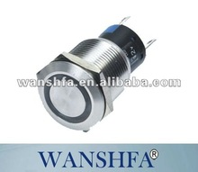 'PBS-19DL self lock push button switch