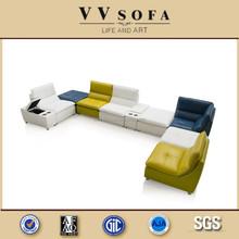 2015 Kangbao VV SOFA high end sofa European leather sofa
