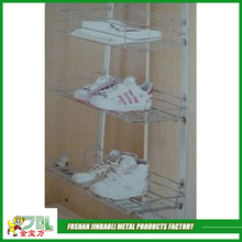 wholesale metal wire basket carts for shoe