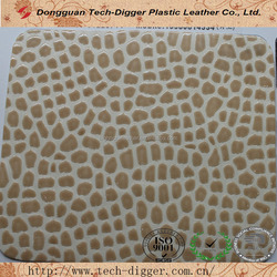 Professional design stone pu synthetic leather for bags