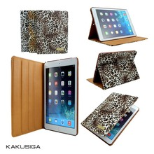H&H 2015 hot selling newest leopard leather tablet case for ipad 2/3/4/air/mini 2
