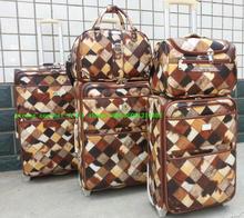 five pcs set PU leather trolley travel suitcase