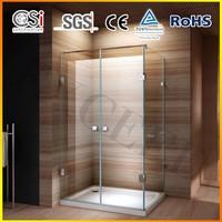 New Design Luxury 8mm Frameless Hinge Shower Enclosure 1200x800 mm EX-419