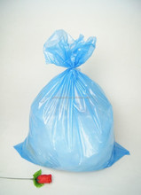 large size star seal recycle plastic garbage rubbish bag blue color 20 mic