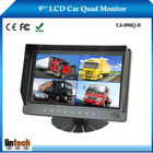 9 polegadas autônomo vista traseira de ônibus monitor lcd para 4 chs de entrada de vídeo