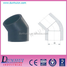 DIN plastic pipe fitting 45 degree elbow