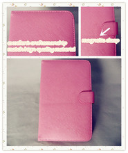 Pink Youth Leather tablet case with Multi-language keyboard use for 7 to 10.1 inch Tablet PC