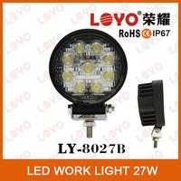 12V car led work light, led rigid work light, 27w car accessories led work light