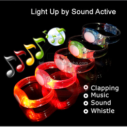Sound Activated LED wristband Motion Sensor Glow Bracelet Led Bracelet With Motion Activated