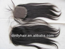 4*4 Silk top Closure Swiss Lace Closure Hidden Knots Virgin Brazilian Hair Closure Pieces lace front closure piece