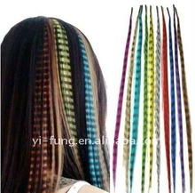 High quality feather hair extension/synthetic feather hair
