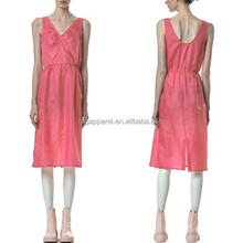 New York Fashion Clothes/ Hot Sale Special Simple Natural Twill Slip Dress