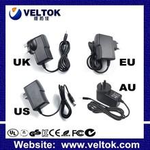 ac adapter input 100 240v ac 50/60hz output 5V 12V eu uk us au plug power adapter CE ROHS FCC UL SAA