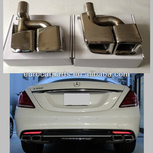 muffler tips for mercedez benz W221 S63 AMG style