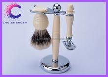 faux ivory handle shaving brush set travel shaving kit ivory shaving kit Christmas gift