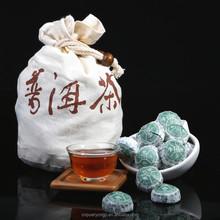 Natural Mini Pu erh Tea For Weight Reduce With Gift Bag Pu-erh